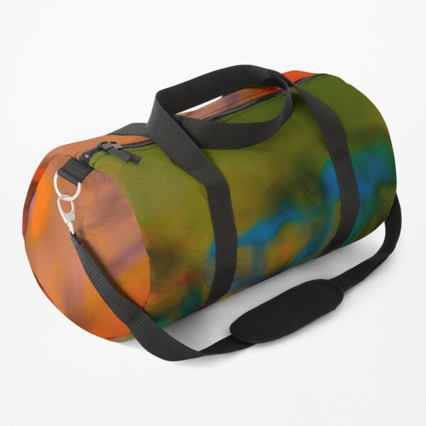 Colorful Russian Woods Scene Abstract Art Duffle Bag