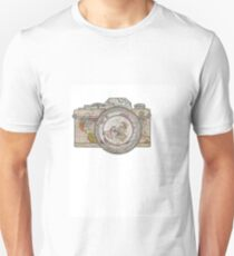 MAP OF THE WORLD ON CAMERA Unisex T-Shirt