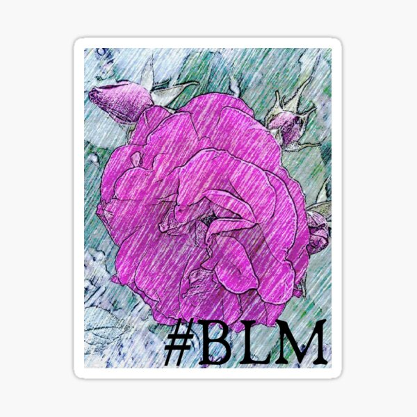 The French Rose- #BLM Sticker
