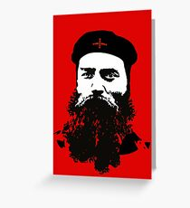 Ned Kelly Meets Che - any colour shirt Greeting Card
