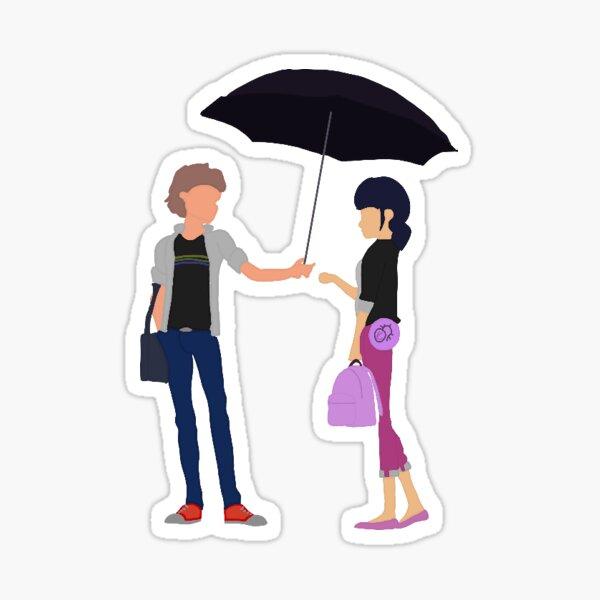 parapluie adrienette Sticker
