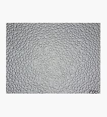 Water Droplets on Tempered Glass Photographic Print