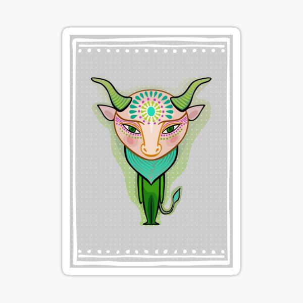 taurus zodiac sign Sticker