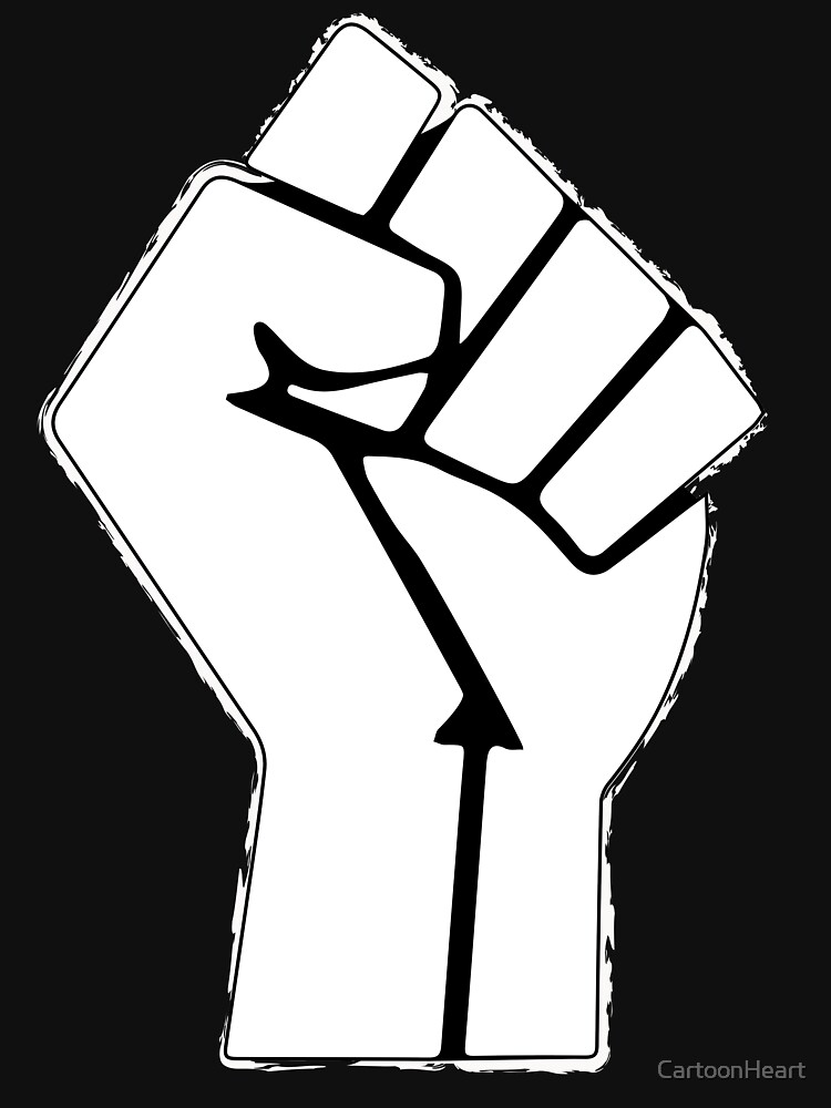 Raised Fist, Black Lives Matter by CartoonHeart