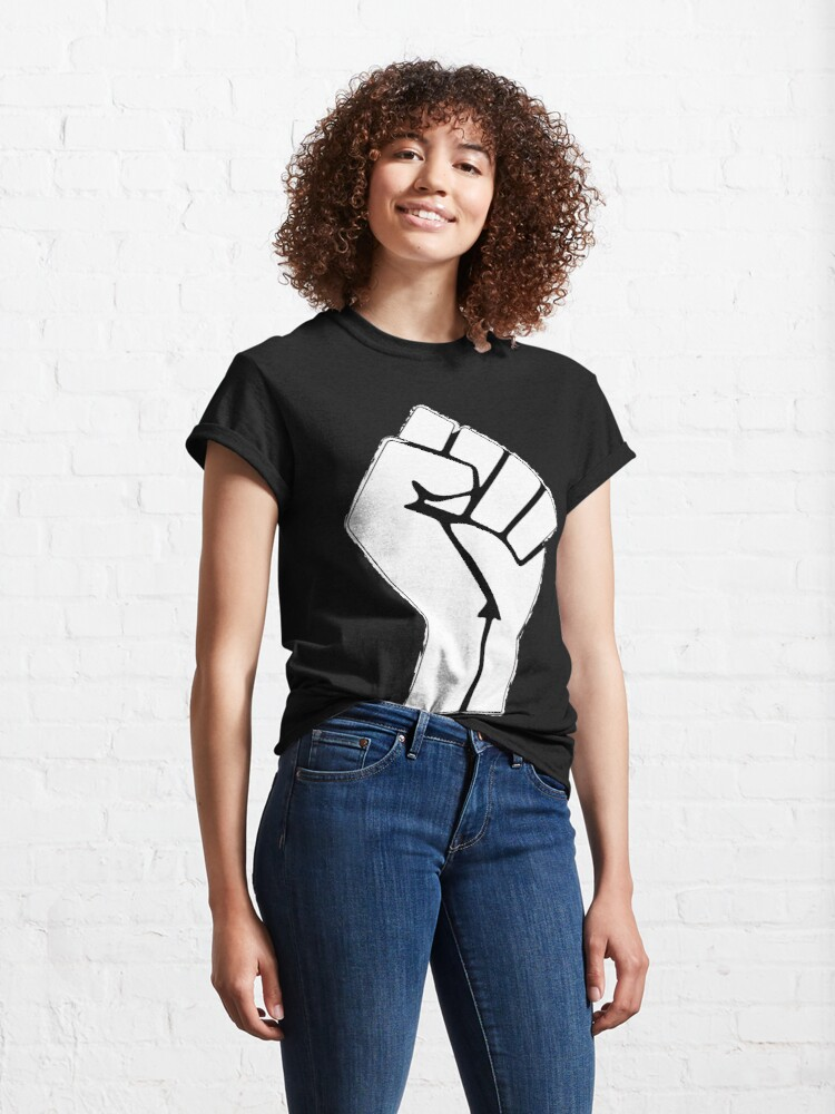 Alternate view of Raised Fist, Black Lives Matter Classic T-Shirt
