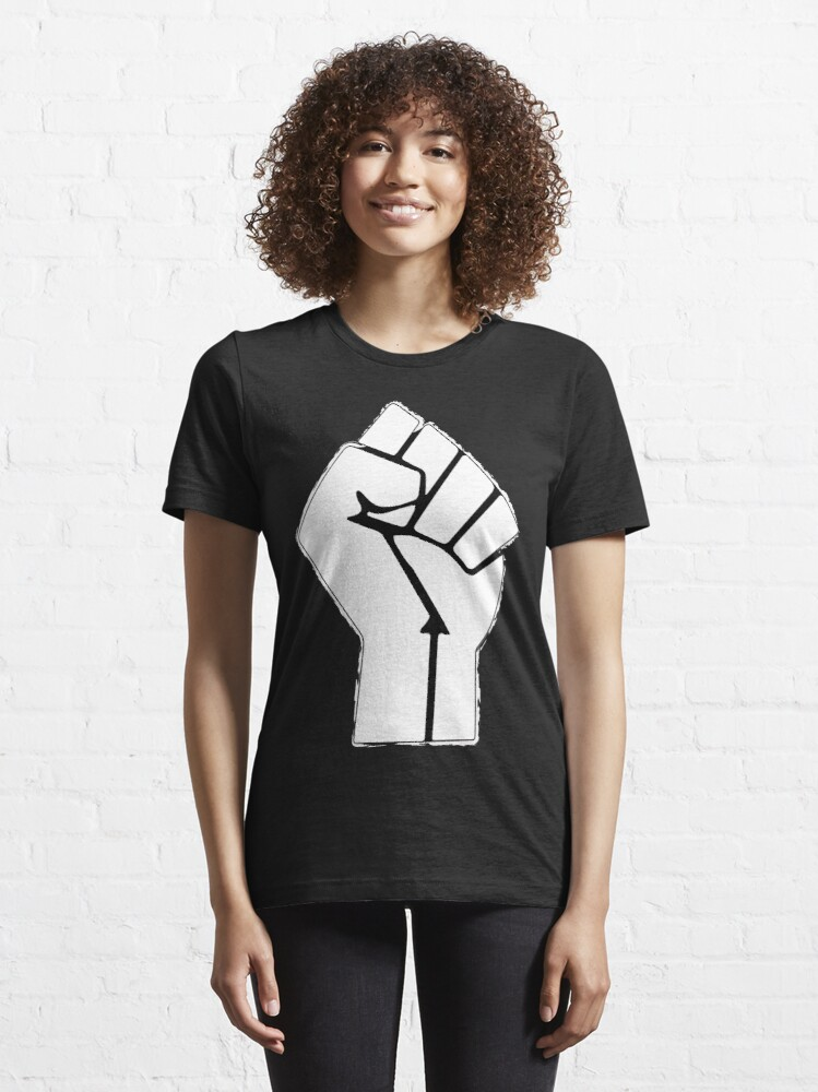 Alternate view of Raised Fist, Black Lives Matter Essential T-Shirt