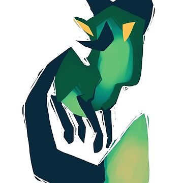 Green Fox by TastesLikeAnya