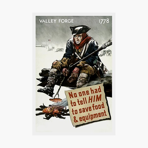 Valley Forge Soldier -- WW2 Propaganda Photographic Print