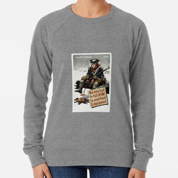 Valley Forge Soldier -- WW2 Propaganda Lightweight Sweatshirt