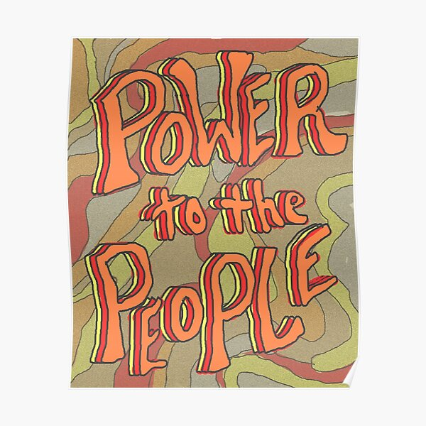 POWER TO THE PEOPLE   red Poster