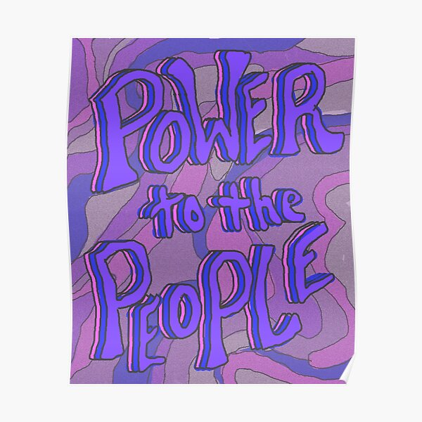 POWER TO THE PEOPLE   violet Poster