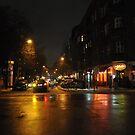 Berlin by night #1 by Lukasz Godlewski