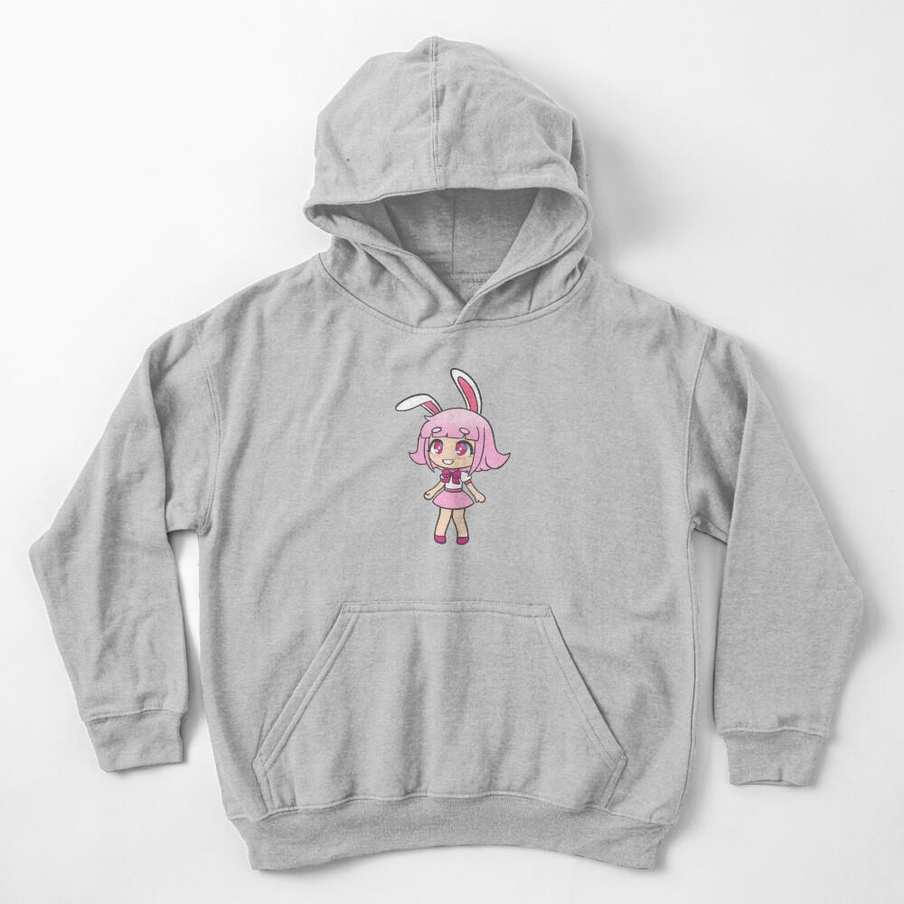 Bunny Gacha Girl Kids Pullover Hoodie
