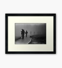 Walking in the Mist in Yellowstone Framed Print