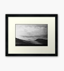 Mist Rolling over the Mountains in Yellowstone Framed Print