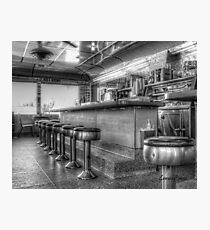 Crossroads Diner in Black and White Photographic Print