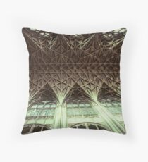 Ceiling Gloucester Cathedral 19810115 0032 Throw Pillow