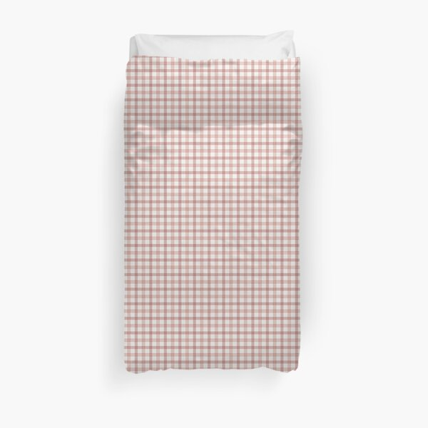 Plaid in Blush (Spring's First Blush: Coordinate) Duvet Cover