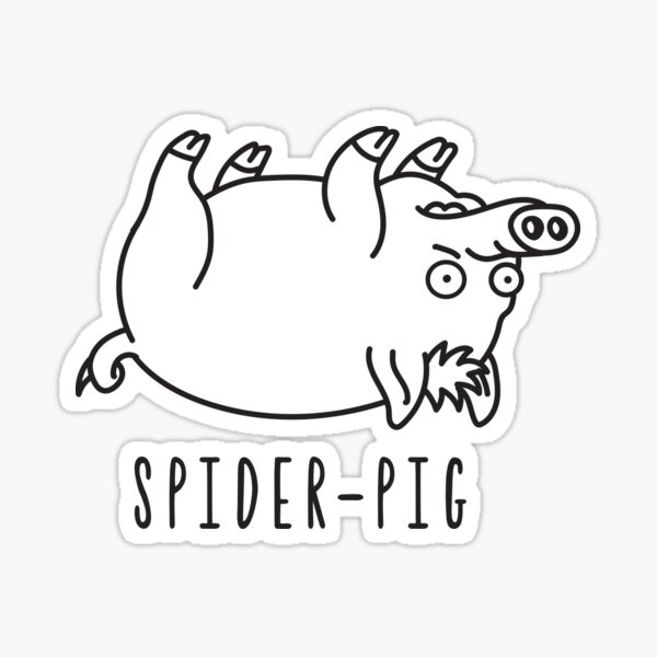 The simpsons spider pig illustration Sticker
