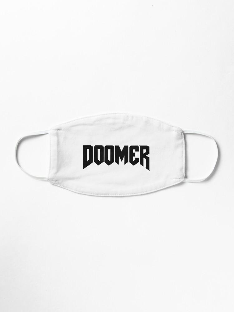 Doomer Black Mask By Sobinka Redbubble