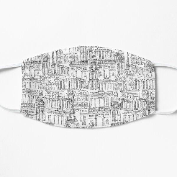 Europe landmark drawing  Flat Mask