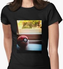 Pokeball Photo design Womens Fitted T-Shirt