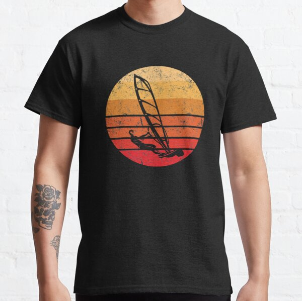 Retro Windsurf Sunset  Classic T-Shirt