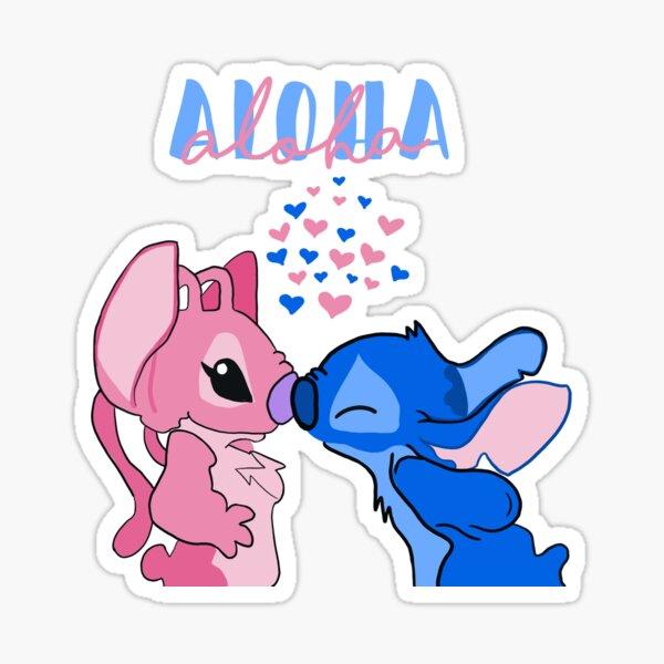 todos aloha stitch & angel Pegatina