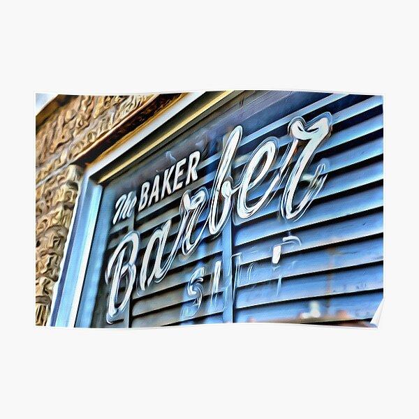 Baker barber Poster