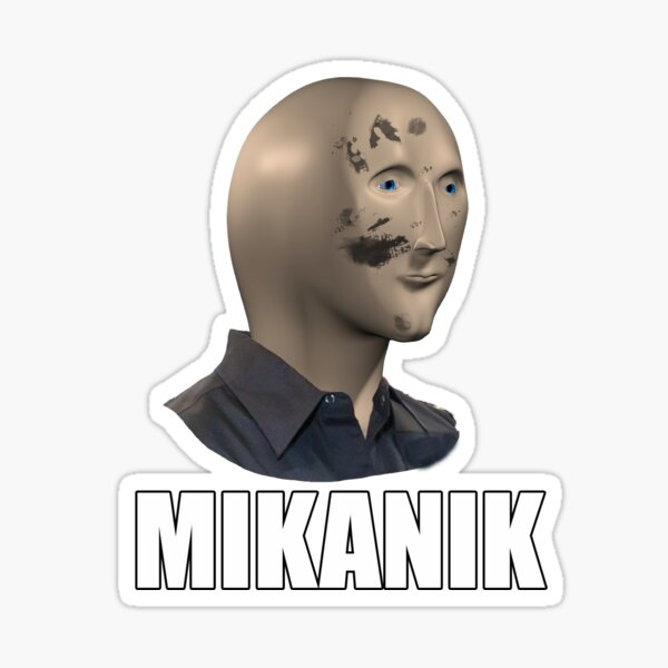Father's Day Mannequin Meme - Mechanic Sticker