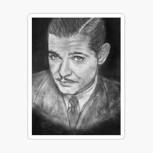 Clark Gable -  young - Movie Star Sticker