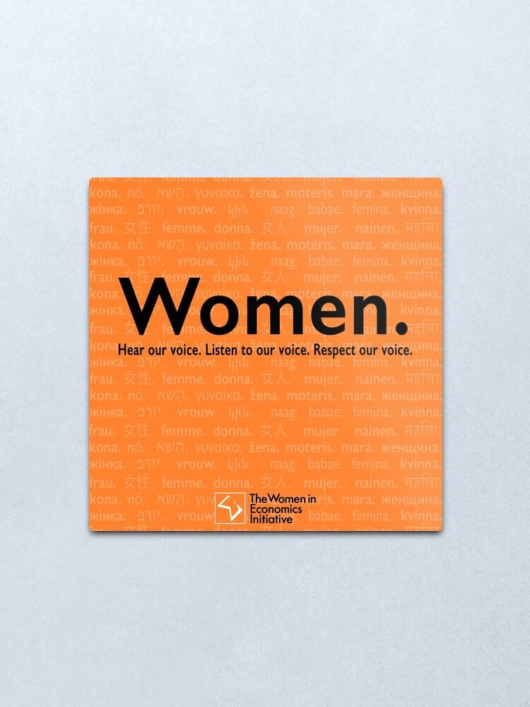 Alternate view of Voices in Orange Metal Print