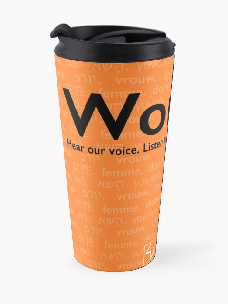 Alternate view of Voices in Orange Travel Mug