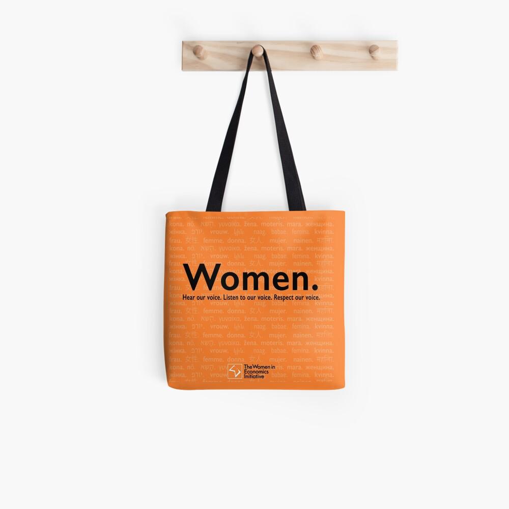 Voices in Orange Tote Bag
