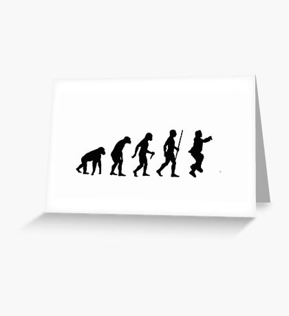 Evolution of Man - Gangnam Style Greeting Card