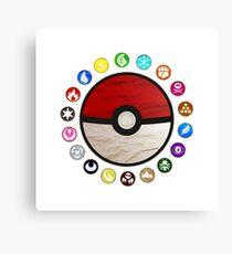 Pokemon - Pokeball Canvas Print