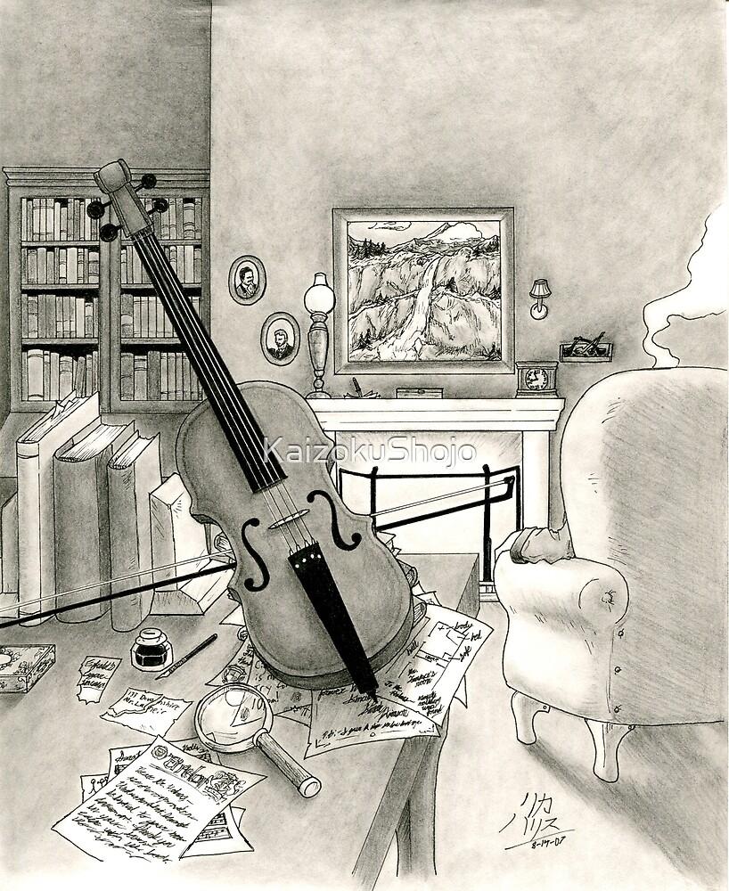 Violin and Sitting-Room by KaizokuShojo