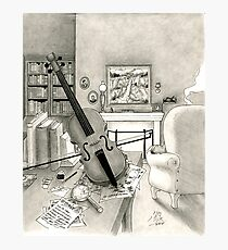 Violin and Sitting-Room Photographic Print