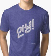 8-bit Annyeong! T-shirt (White) Tri-blend T-Shirt