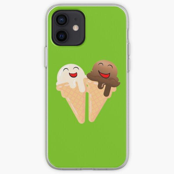 Happy Ice Cream Cones - Chocolate and Vanilla Together iPhone Soft Case