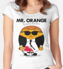 Mr. Orange (Mr. Men versus Reservoir Dogs) Women's Fitted Scoop T-Shirt