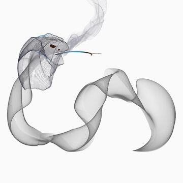 Smoking snake by jaxrobyn