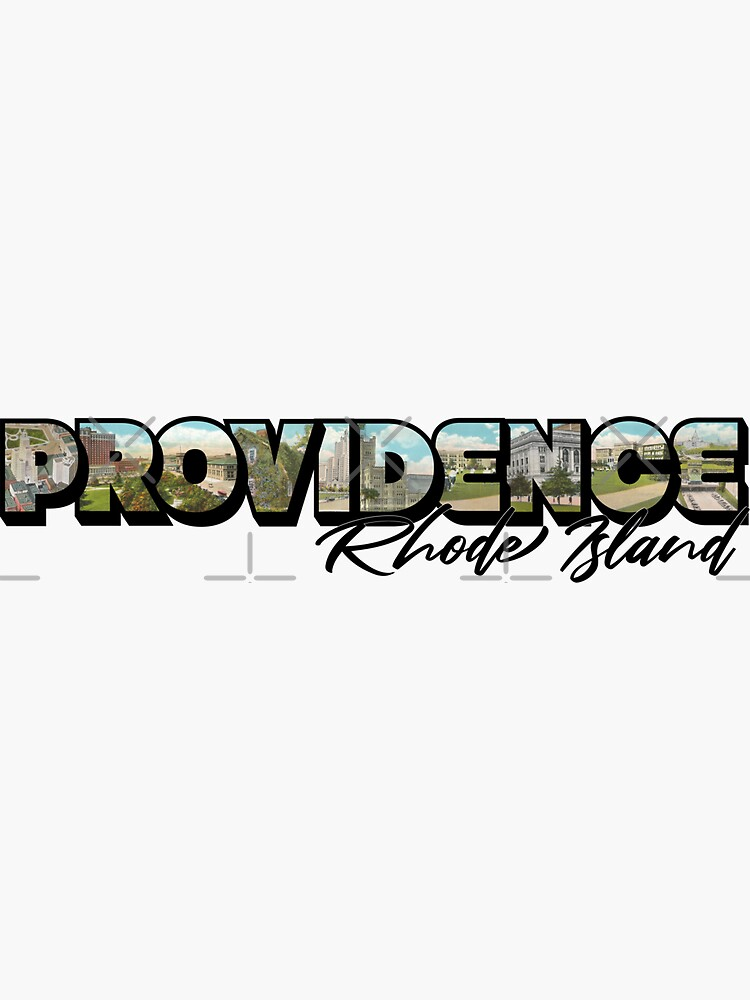 Providence Rhode Island Big Letter by ButterflysAttic