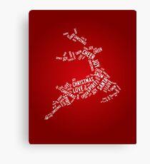 Typography deer Canvas Print