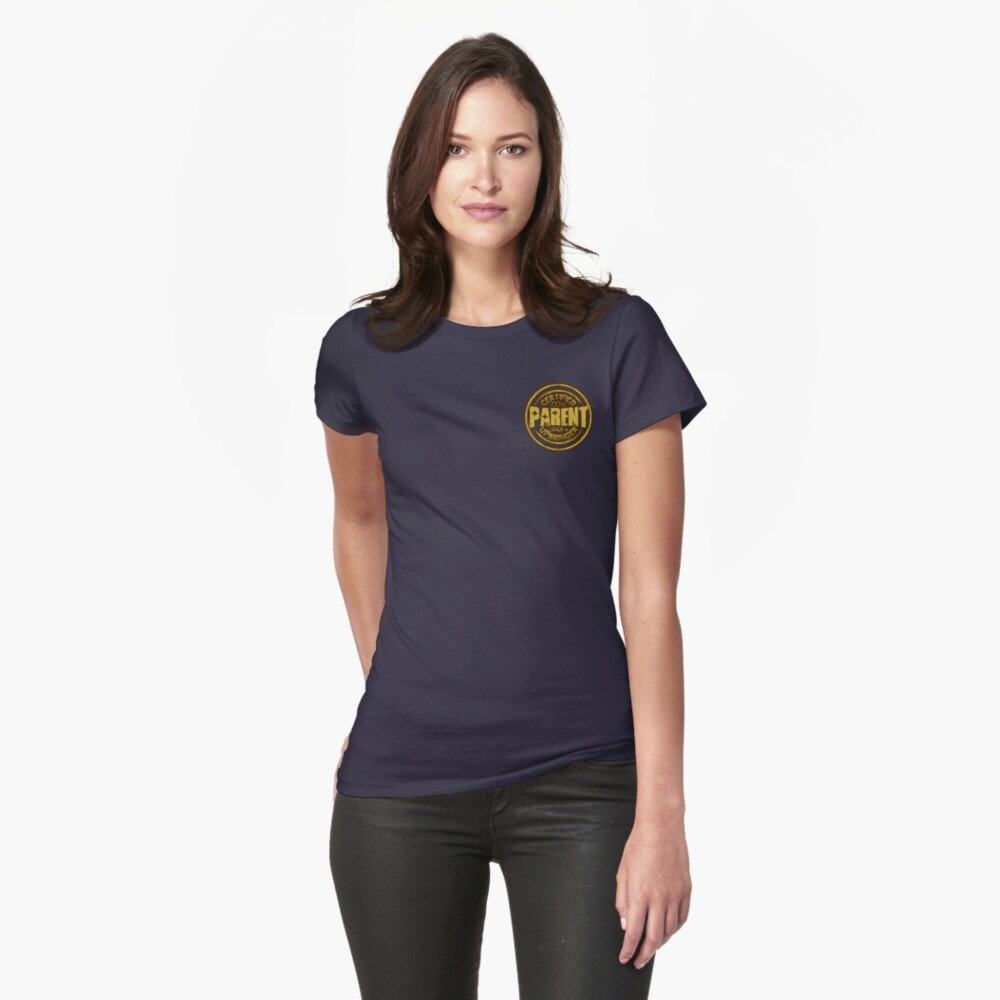 Certified Parent Badge Womens T-Shirt Front