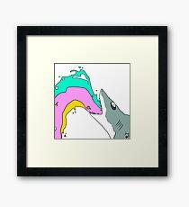 JAWS SAVVY! Framed Print