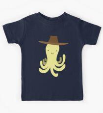 Yellow Octopus - Cowboy Hat Kids Tee