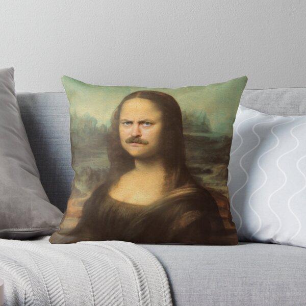 Mona Ron Swanson Throw Pillow