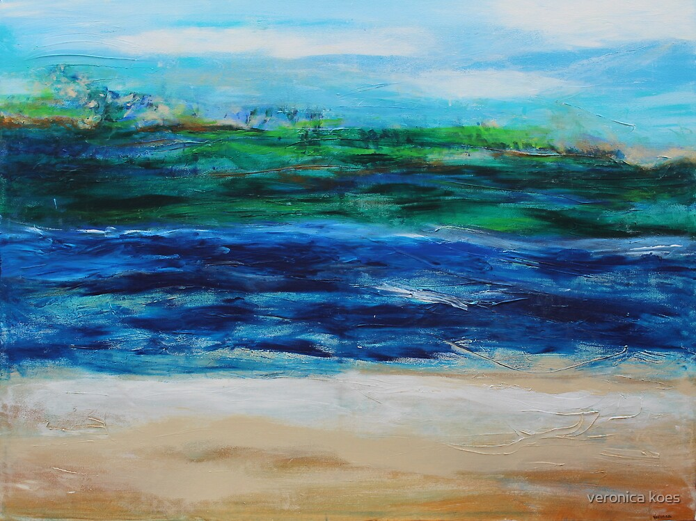 Abstract Beach by veronica j. k.