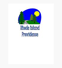 Providence Rhode Island truck stop vacation novelty tee Photographic Print